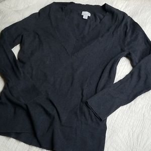 Caslon Grey V neck sweater